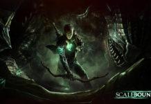 Постер игры Scalebound,Главный герой и дракон.